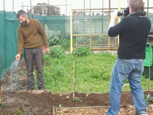 documenting the tree planting