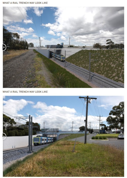 Camp Rd Level crossing removal - artist impression.