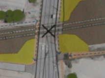 Closeup of Level Crossing in the design plan